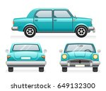 front back side point view... | Shutterstock .eps vector #649132300