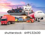 transport and logistic concept... | Shutterstock . vector #649132630