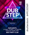 dubstep party flyer poster.... | Shutterstock .eps vector #649133569