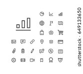 column chart icon in set on the ... | Shutterstock .eps vector #649133650