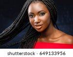 close up studio face shot of... | Shutterstock . vector #649133956