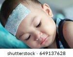 asian baby boy get sick he has... | Shutterstock . vector #649137628