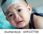 asian baby boy get sick he has... | Shutterstock . vector #649137700