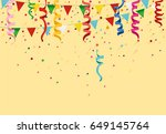 colorful multicolored confetti... | Shutterstock .eps vector #649145764