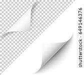 vector realistic white paper... | Shutterstock .eps vector #649146376