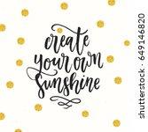 trendy hand lettering poster.... | Shutterstock .eps vector #649146820