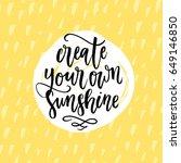 trendy hand lettering poster.... | Shutterstock .eps vector #649146850