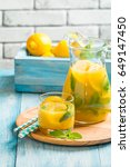 lemonade drink. lemonade in the ... | Shutterstock . vector #649147450