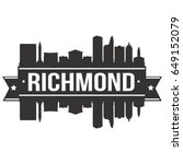 richmond skyline silhouette... | Shutterstock .eps vector #649152079