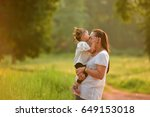 communication love mother to... | Shutterstock . vector #649153018