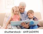 happy senior man and his... | Shutterstock . vector #649160494