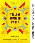 dance party poster vector... | Shutterstock .eps vector #649161370
