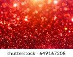 red sparkling glitter bokeh... | Shutterstock . vector #649167208