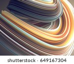 colored abstract twisted shape. ... | Shutterstock . vector #649167304