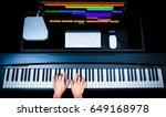 music production technology ... | Shutterstock . vector #649168978