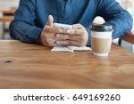 adult asian freelance... | Shutterstock . vector #649169260