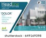 blue flyer cover business... | Shutterstock .eps vector #649169398