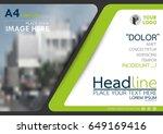 green flyer cover business... | Shutterstock .eps vector #649169416