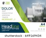 blue and green flyer cover... | Shutterstock .eps vector #649169434