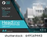 blue flyer cover business... | Shutterstock .eps vector #649169443