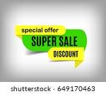 super sale tag  banner design....   Shutterstock .eps vector #649170463