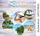 holiday packages concept.... | Shutterstock . vector #649174810