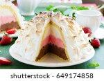 sponge cake alaska ice cream...