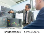 businessmen trading stocks... | Shutterstock . vector #649180078
