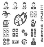 casino icons. vector... | Shutterstock .eps vector #649185544