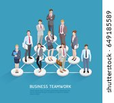 business teamwork concepts.... | Shutterstock .eps vector #649185589
