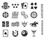 Casino Icons. Vector...