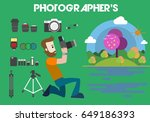 photographer concept design... | Shutterstock .eps vector #649186393