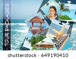 tour packages concept. collage... | Shutterstock . vector #649190410