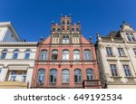 Small photo of Historic houses at the market square of Minden, Germany