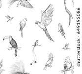 vector seamless pattern of... | Shutterstock .eps vector #649193086