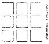 vector set of black frames.... | Shutterstock .eps vector #649197490