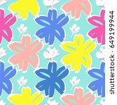 contemporary summer  hand drawn ... | Shutterstock .eps vector #649199944