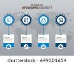 modern infographic template | Shutterstock .eps vector #649201654