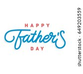 happy fathers day flat... | Shutterstock .eps vector #649203559