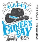 happy father's day  thanks dad. ... | Shutterstock .eps vector #649211113