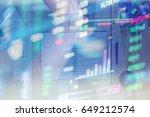 stock exchange market graph... | Shutterstock . vector #649212574
