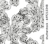 elegant seamless pattern with... | Shutterstock .eps vector #649213348