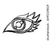 cartoon eye human look watch... | Shutterstock .eps vector #649219819