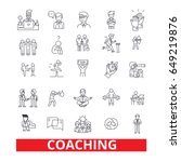coaching  sport coach  mentor ... | Shutterstock .eps vector #649219876