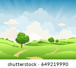 summer or spring landscape for... | Shutterstock .eps vector #649219990