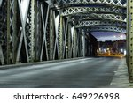 asphalt road under the steel... | Shutterstock . vector #649226998