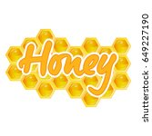 organic raw honey. healthy food ... | Shutterstock . vector #649227190