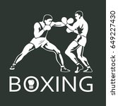 boxing players fighting... | Shutterstock . vector #649227430