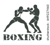 boxing players fighting... | Shutterstock . vector #649227460