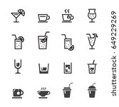 drink line icon set | Shutterstock .eps vector #649229269